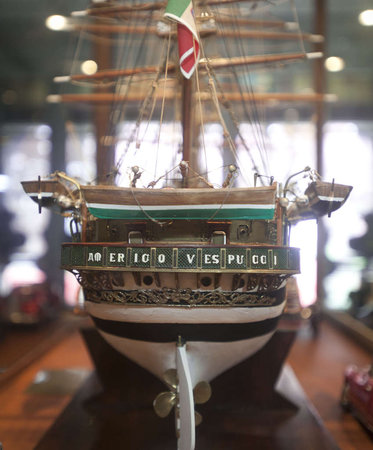 Carefully crafted miniature ship needs a place to dock