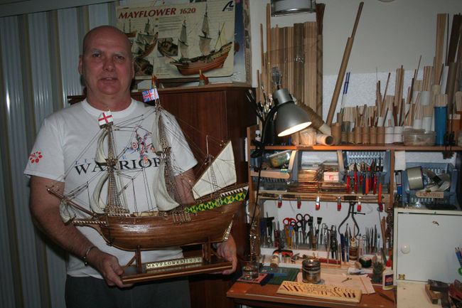 Mayflower model ship donation signifies fresh start